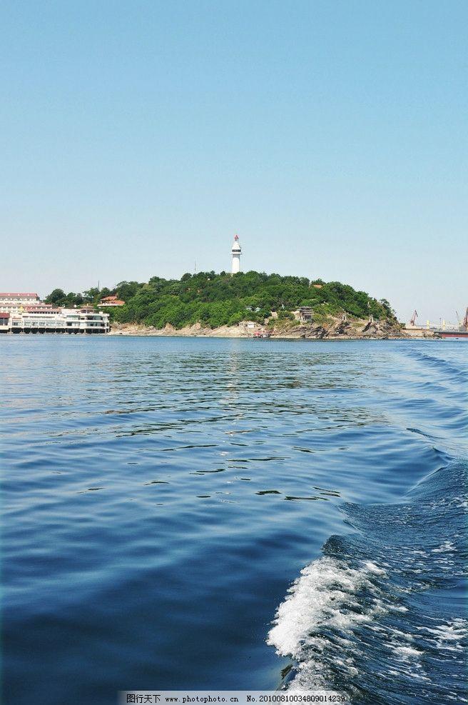 烟台山灯塔 烟台山 烟台 灯塔 大海 海上灯塔 自然风景 自然景观 摄影
