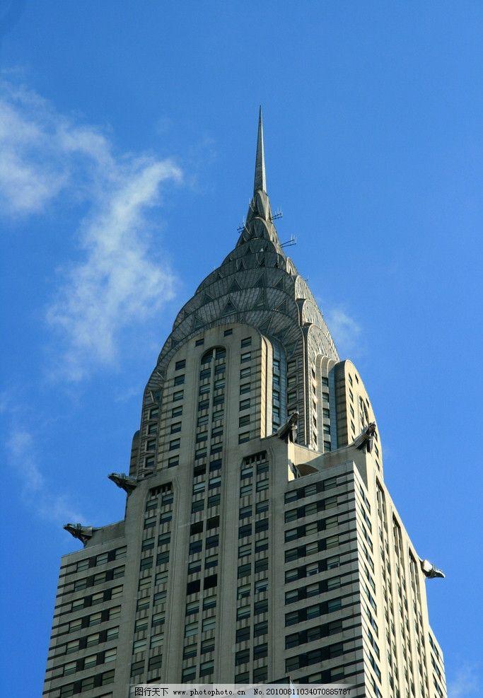 纽约 克莱斯勒大厦 漂亮的屋顶图片