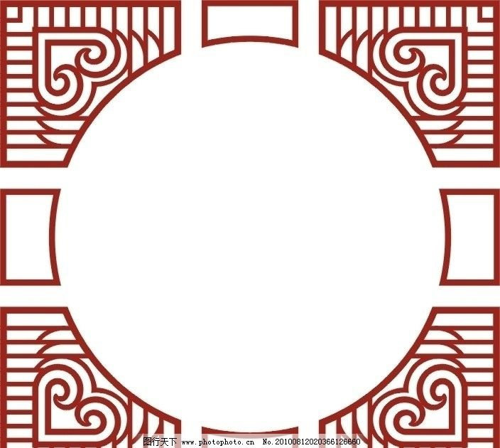 雕花 镂空 心形 图案 经典中式图案 雕花板 室内装饰用镂空花板图片