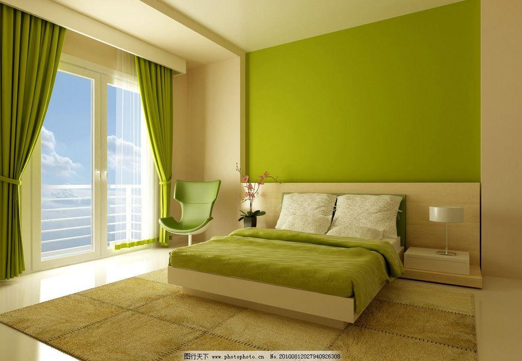 卧室 房间 窗户 阳光 装修 装饰 大床 时尚装饰 床被 天空