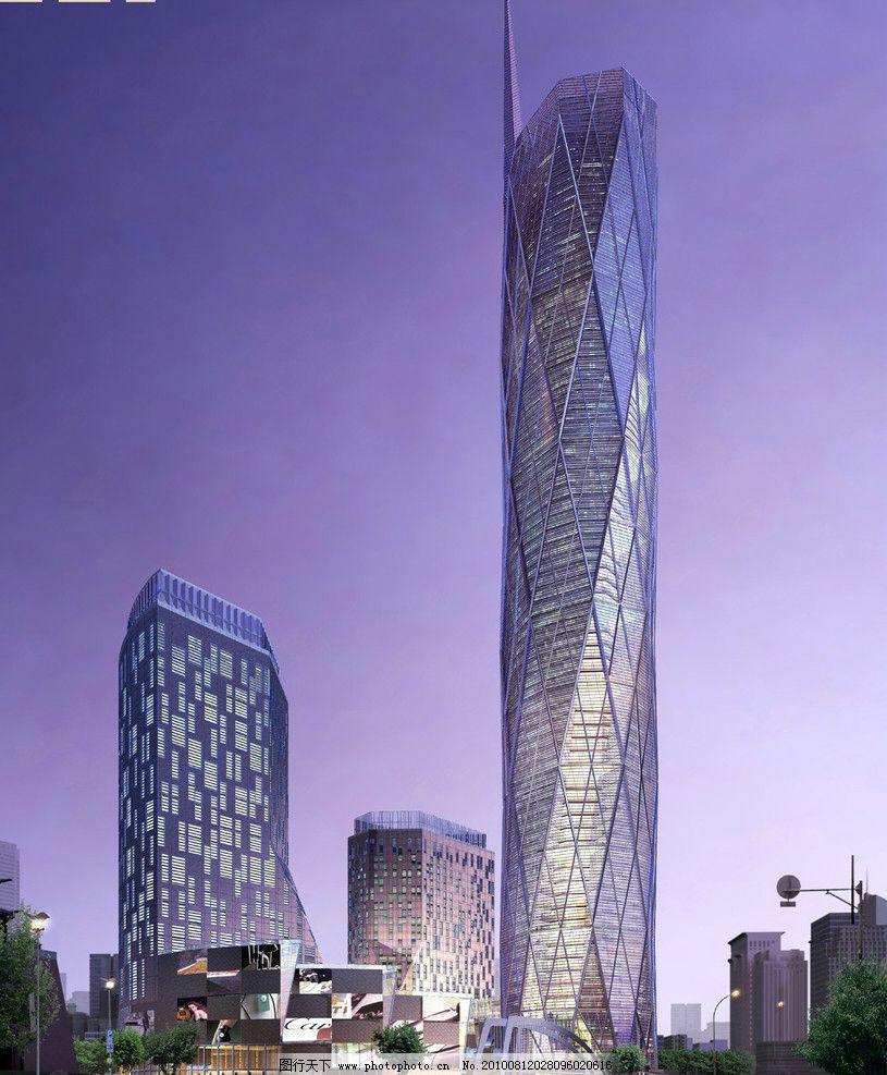 超高层透视效果图 超高层 透视        建筑设计 环境设计 设计 150