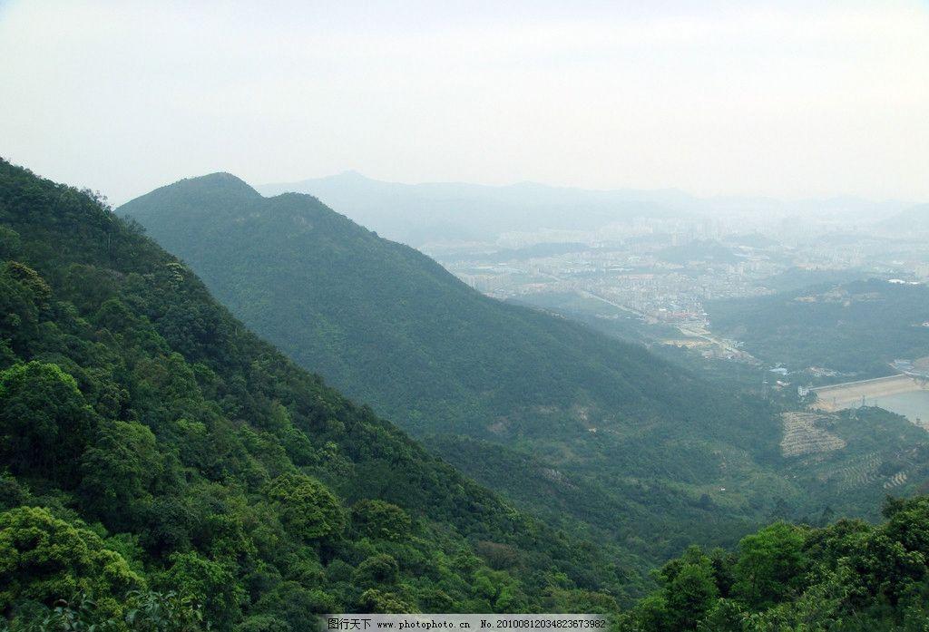 高山远眺风光 远山 森林 唯美风景 自然风光 风景图片 摄影图