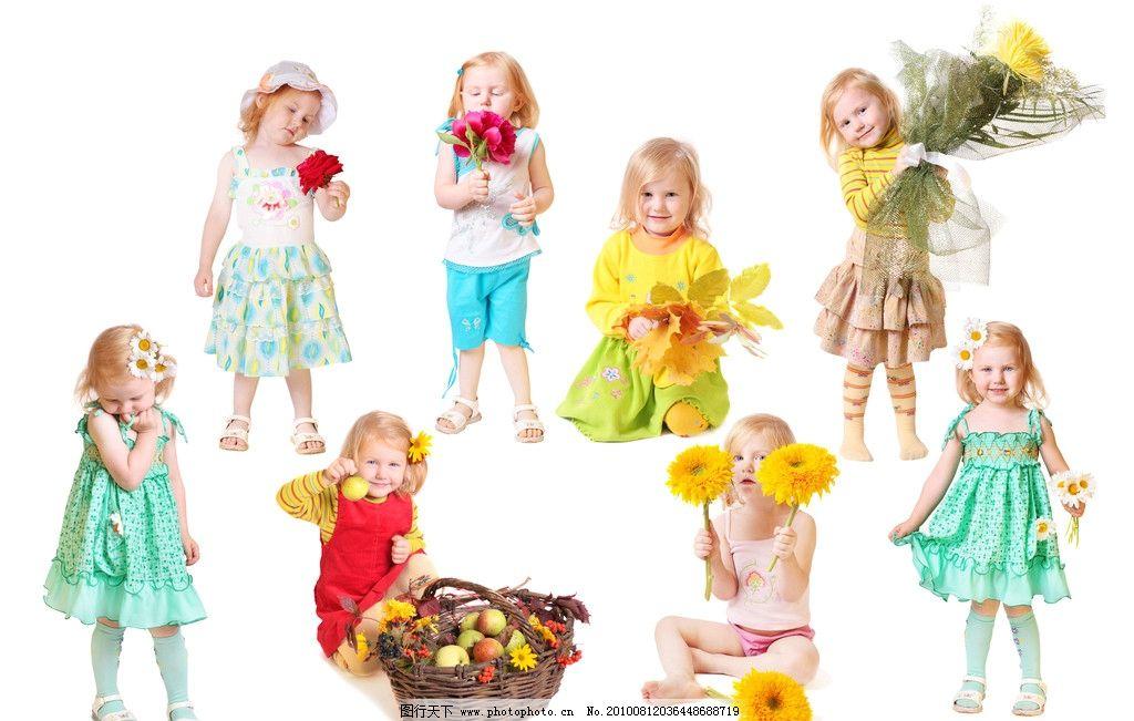 可爱小女孩 小女孩 儿童 幼儿 女孩 献花 花篮 鲜花 可爱 活泼 淘气 儿童幼儿jpg 儿童幼儿 人物图库 摄影 300DPI JPG