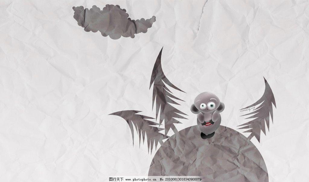 黑白动画人物壁纸