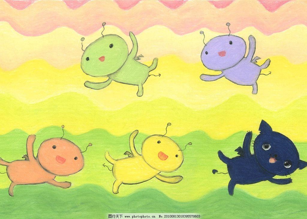 淡彩手绘卡通 淡彩 手绘 卡通 小兔子 动漫人物 动漫动画 设计 100dpi