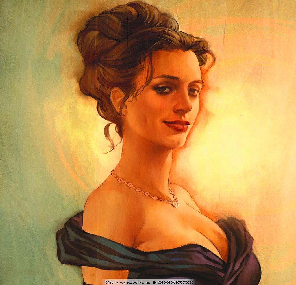 油画人物 贵妇人图片