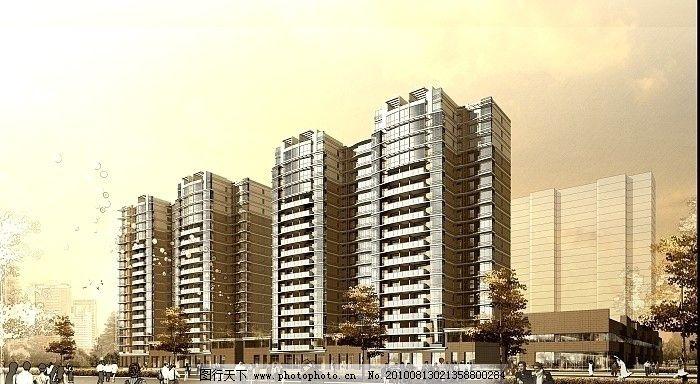 室外模型  建筑景观效果图 建筑效果图 景观设计 手绘 手绘风格 国外