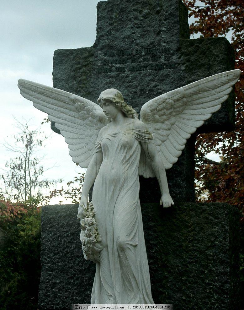 摄影图片 摄影素材 图片素材 雕塑图片 天使雕塑 女性雕塑 雕塑人物