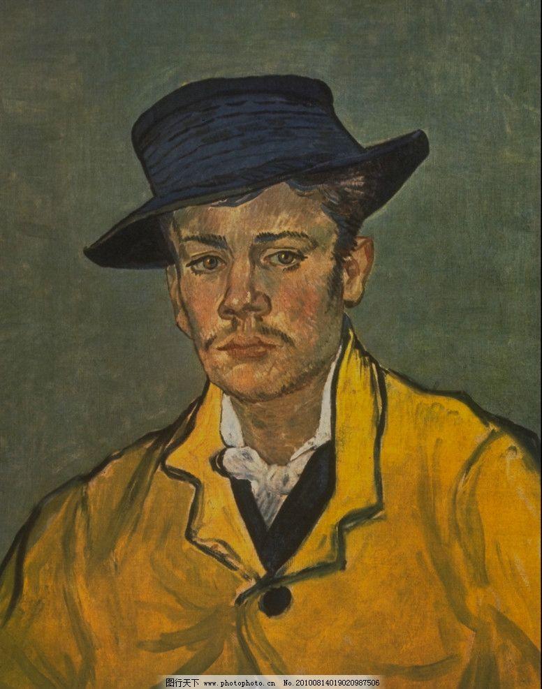 戴礼帽的男人 人物 油画