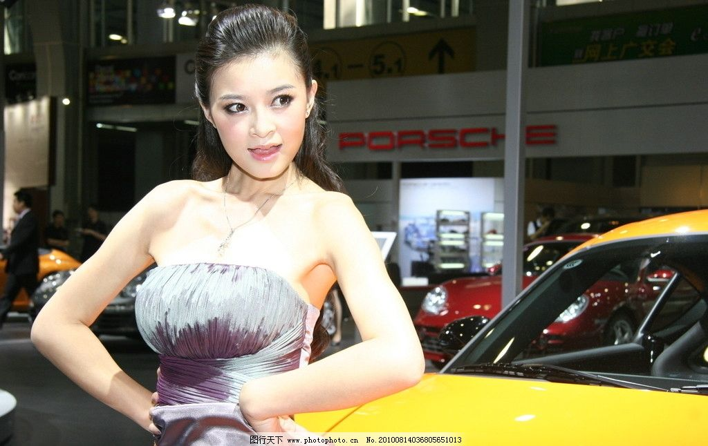 广州车展车模 美女 女性 汽车 时尚 展会 展览 图片素材 女性女人