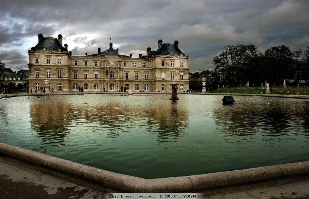 古庄园城堡 欧式 古代园林建筑图片
