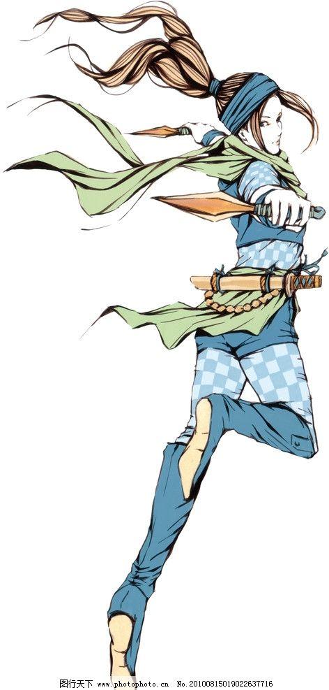 日本侍卫 日本忍者 绘画书法 文化艺术 设计 350dpi jpg