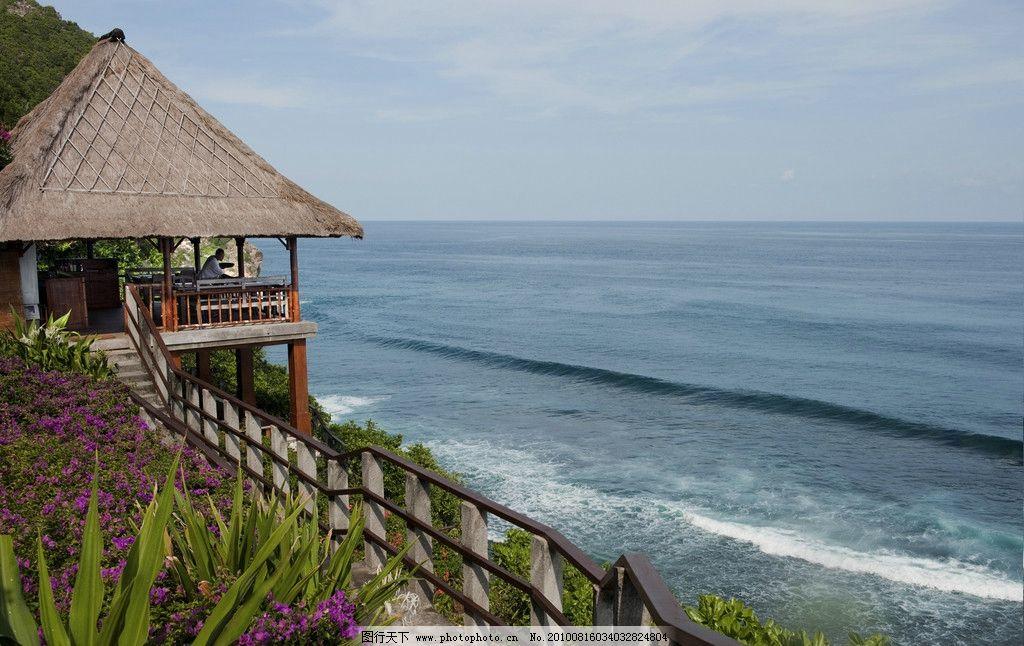 巴厘岛阿雅娜酒店剪影图片