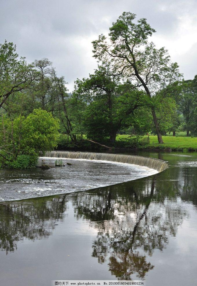 水景 水石 绿色 自然 风光 自然风光 树 树枝 风景 丛林风景 瀑布
