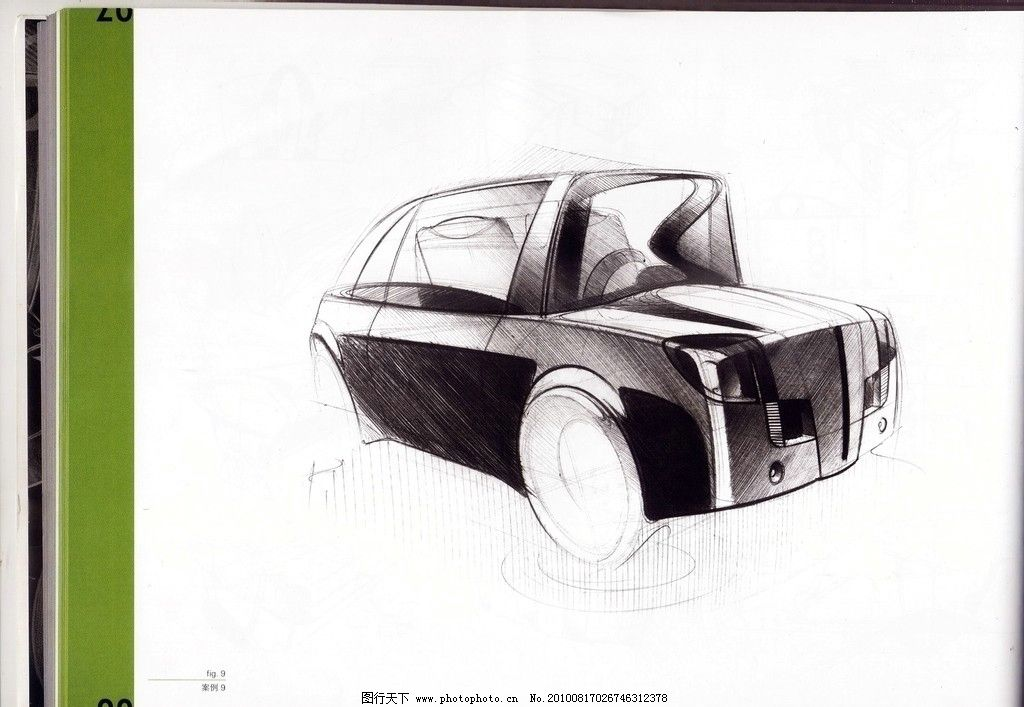 汽车素描 手绘图片