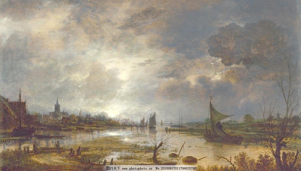 世界名画 英国油画 风景 风景画 风景油画 油画风景 经典油画 树木