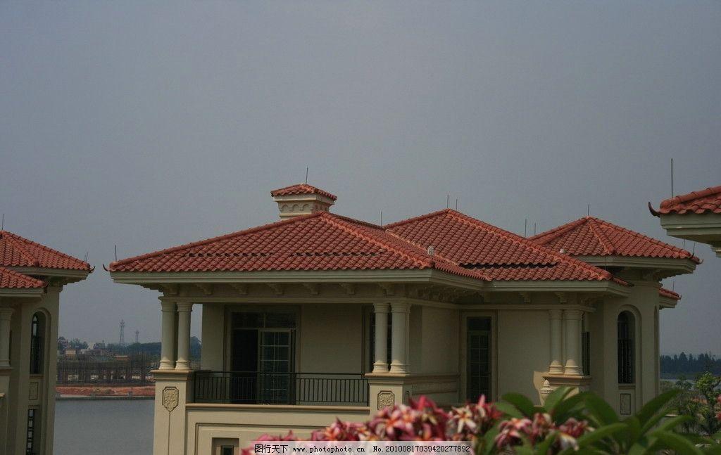 万科 佛山 天鹅湖 地产 别墅 欧式 屋顶 阳台 屋檐图片