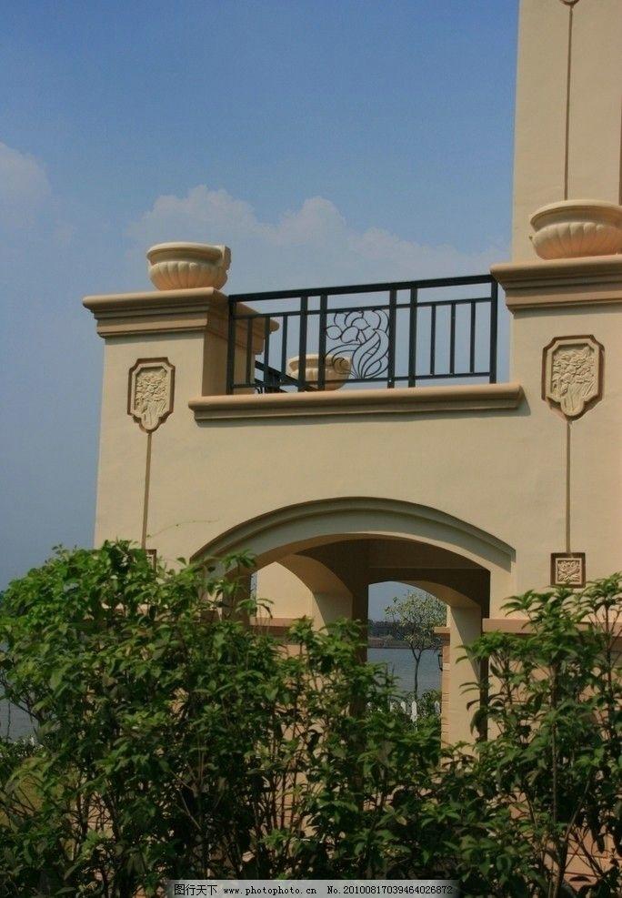 万科 佛山 天鹅湖 地产 别墅 欧式 屋顶 阳台 屋檐图片图片
