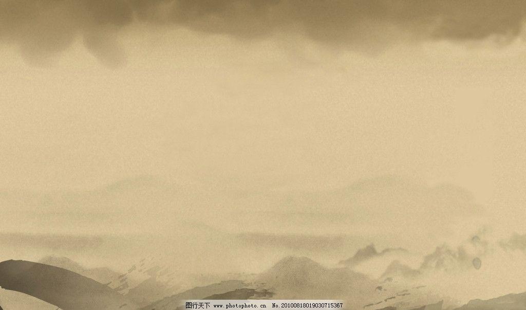 水墨高清壁纸-背景图片 山