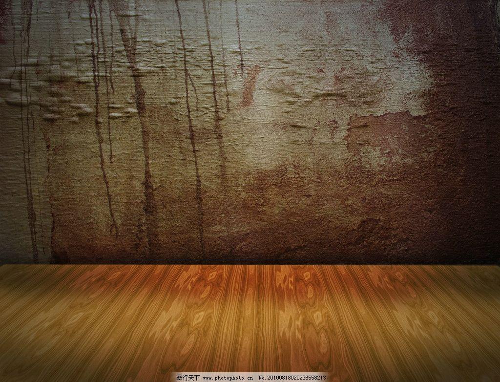 墙壁 地板 室内 墙面 墙角 破旧 残旧 颓废 怀旧 复古 木纹 木地板 灯