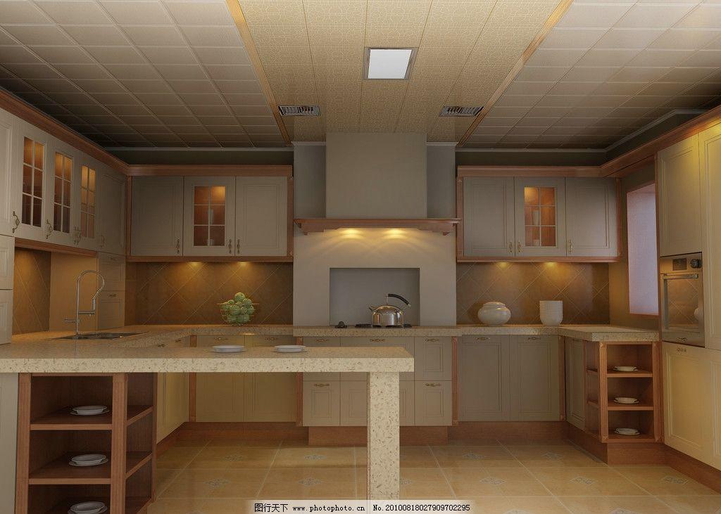 蒙特卡罗厨房造型 橱柜 集成吊顶 集成吊顶设计图库