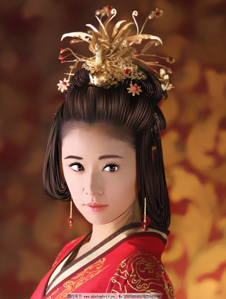 古装手绘美女图片