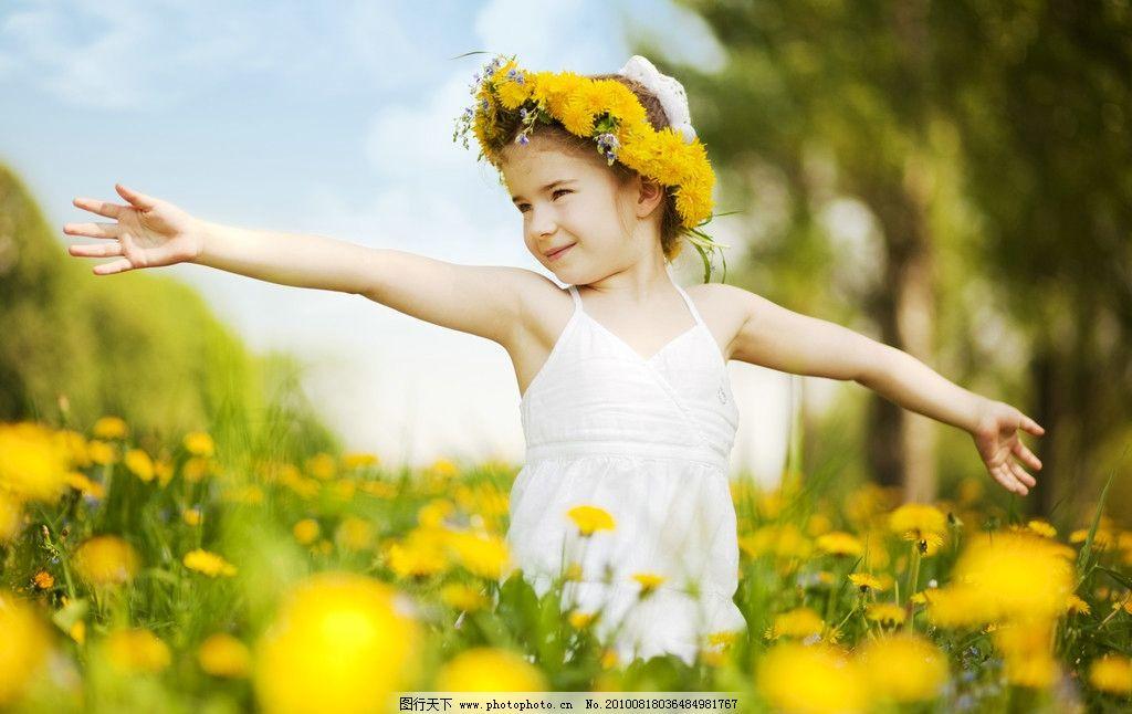 阳光下的女孩图片