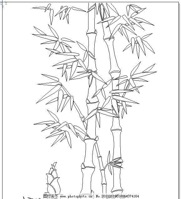 简笔画人物画法 竹子