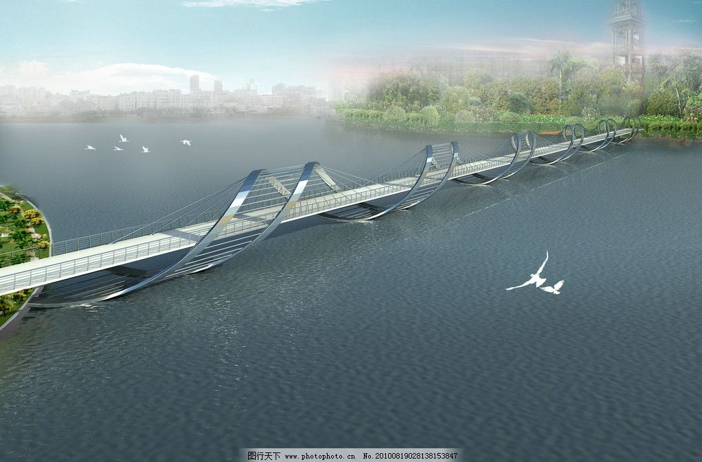 人行天桥 桥 天桥 景观设计 环境设计 设计 72dpi jpg