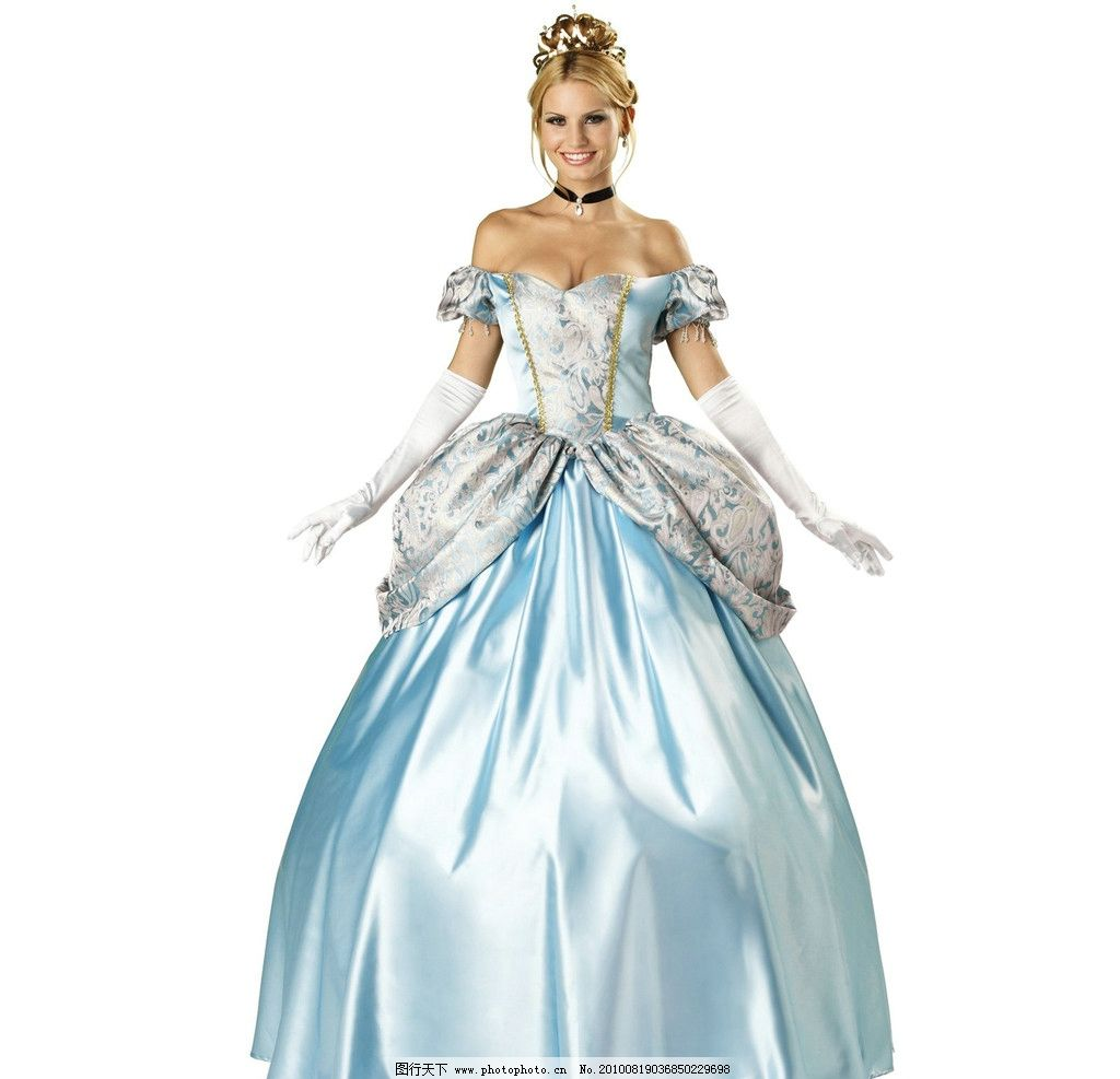 公主裙 礼服美女 晚礼服 高贵 连衣裙 典雅 服装设计 女性女人
