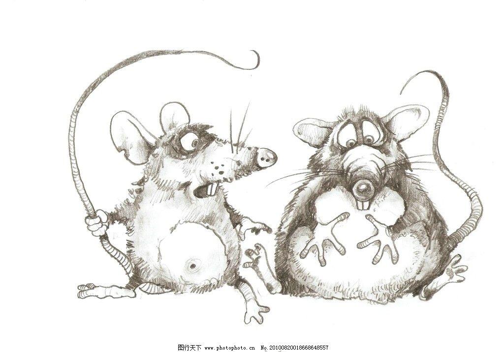 老鼠 手绘老鼠 其他 动漫动画 设计 200dpi jpg