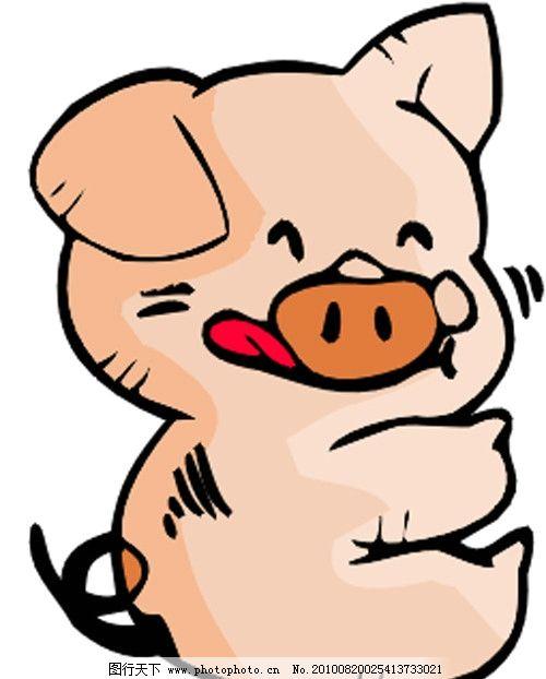 小猪 猪 可爱 卡通 漫画 矢量素材 可爱卡通动物 其他生物 生物世界