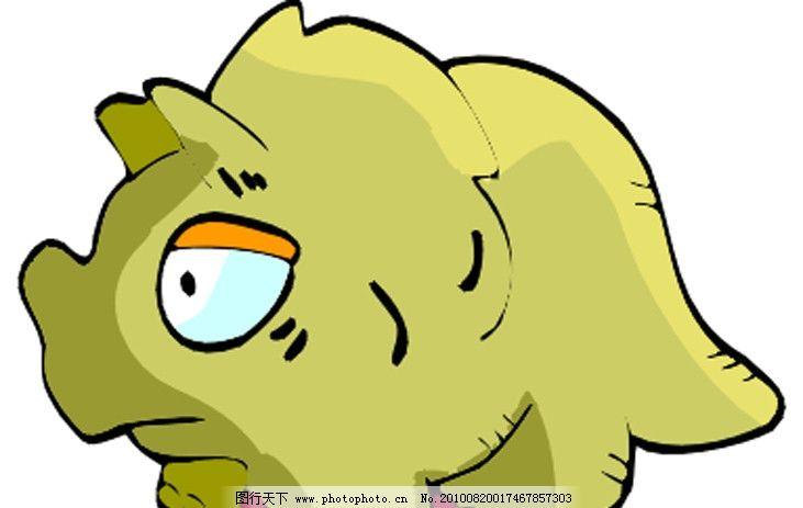小恐龙 可爱 卡通 漫画 矢量素材 可爱卡通动物 其他生物 生物世界