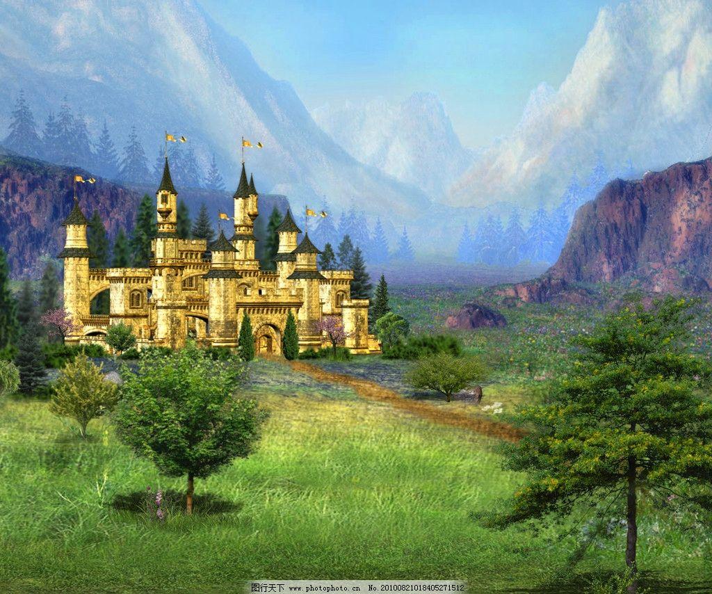 童话背景 小城堡 外国建筑