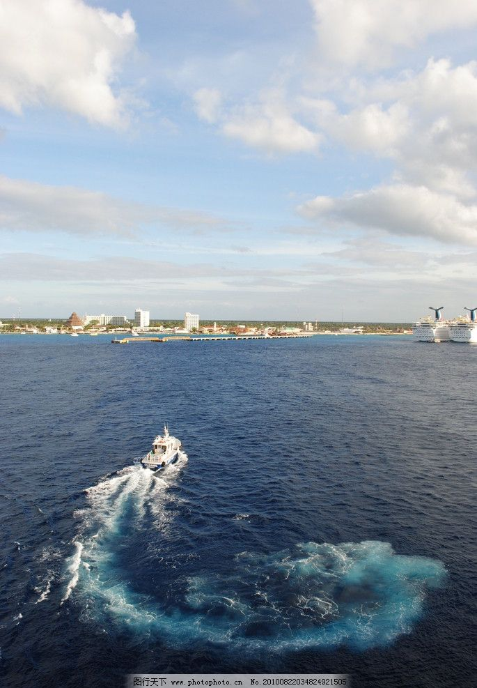 墨西哥海湾海岸警卫队小艇图片_自然风景_自然景观_图