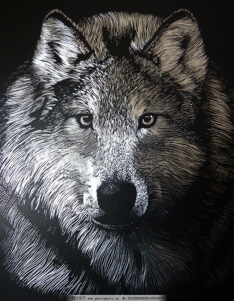 木刻狼 摄影图片 摄影素材 艺术图片 木刻动物 图片素材 设计素材