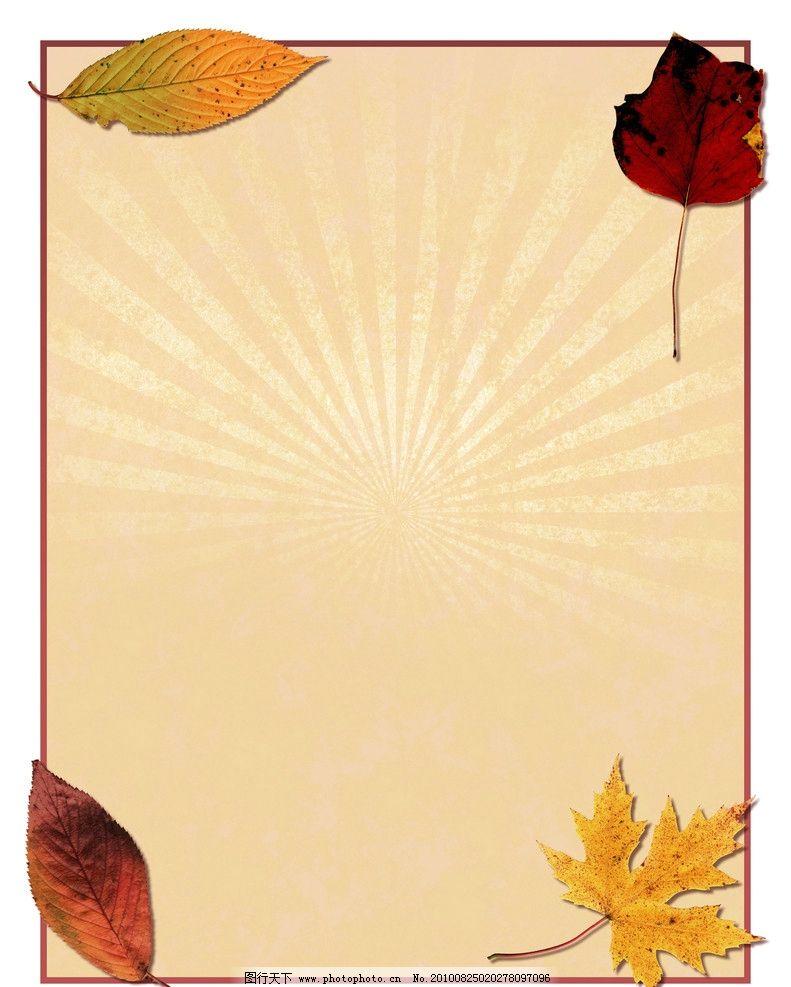 枫叶 秋季背景 秋天背景 背景 底纹 设计 纸张设计 背景底纹 底纹边框