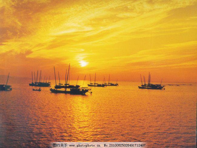 太湖美景 太湖美景免费下载 船帆 水纹 夕阳 图片素材 风景生活旅游餐