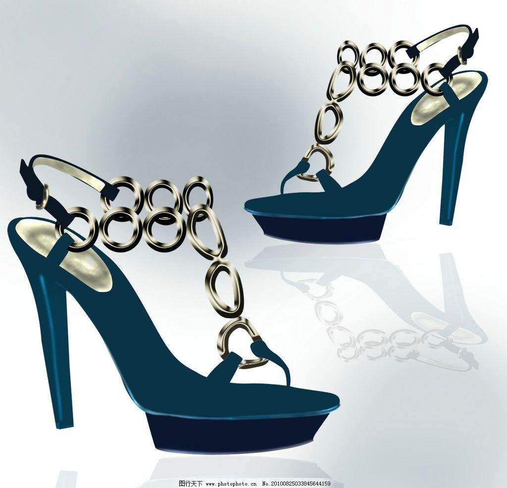 鞋类 ps源文件 手绘效果图 鞋图 设计 创意 鞋 配色 时尚 女鞋 新式样