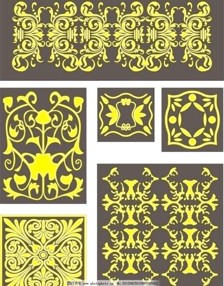 cdr 纯色背景 底纹边框 古典花纹 花纹花边 欧式古典花纹 线条花纹