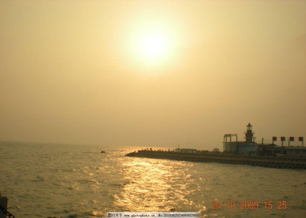 日落海边 海边 落日 夕阳 自然风景 自然景观 摄影 300dpi jpg