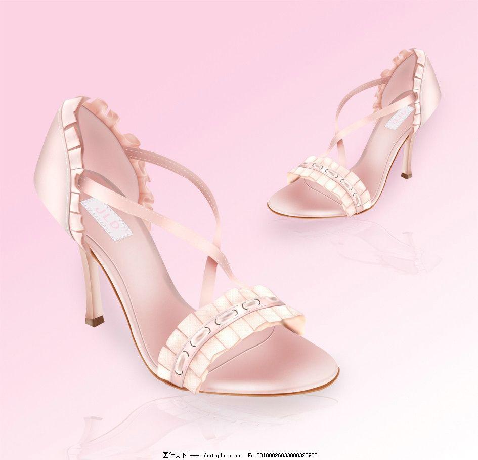 鞋类 ps源文件 手绘效果图 鞋图 设计 创意 鞋 配色 时尚 女鞋 系带女