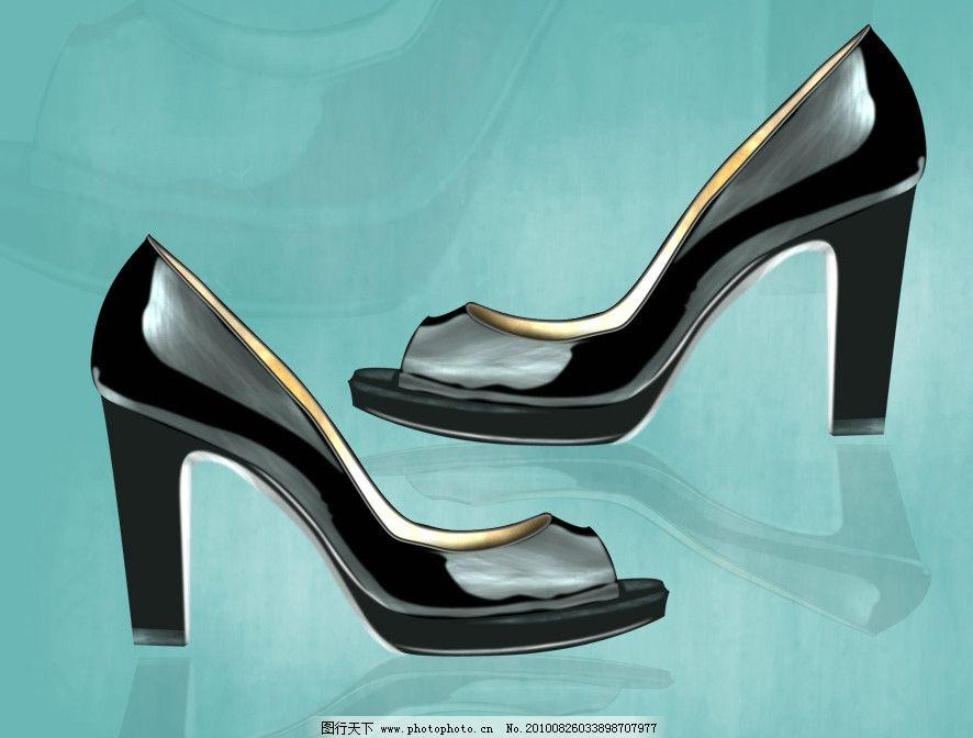 鞋类 ps源文件 手绘效果图 鞋图 设计 创意 鞋 配色 时尚 女鞋 高跟女