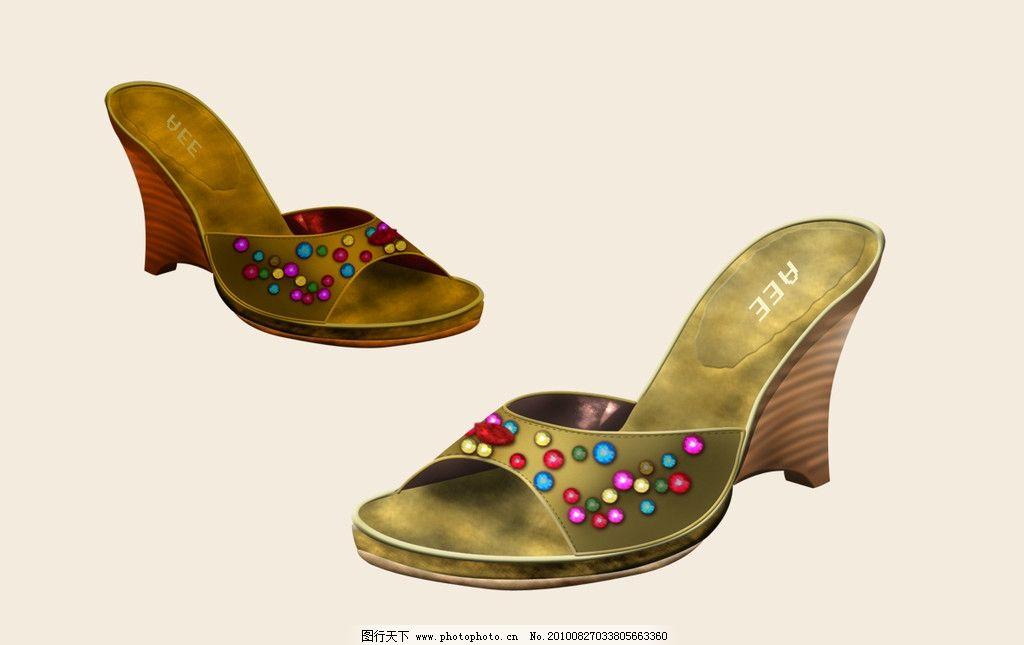 手绘效果图 鞋图 设计