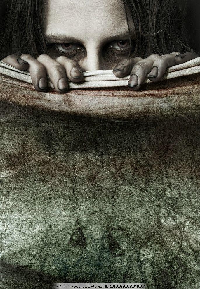 恐怖 骷髅头 恐怖电影海报 电影杂志封面 鬼片 女鬼 其他人物 人物