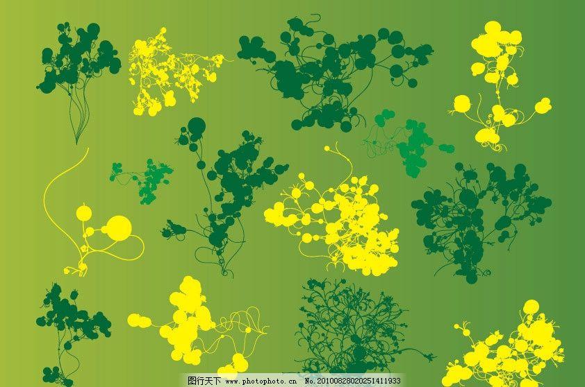 花卉底纹 时尚 花纹 涂料 颜料 画画 污点 彩色 艺术 刷子 泥土 脏 点