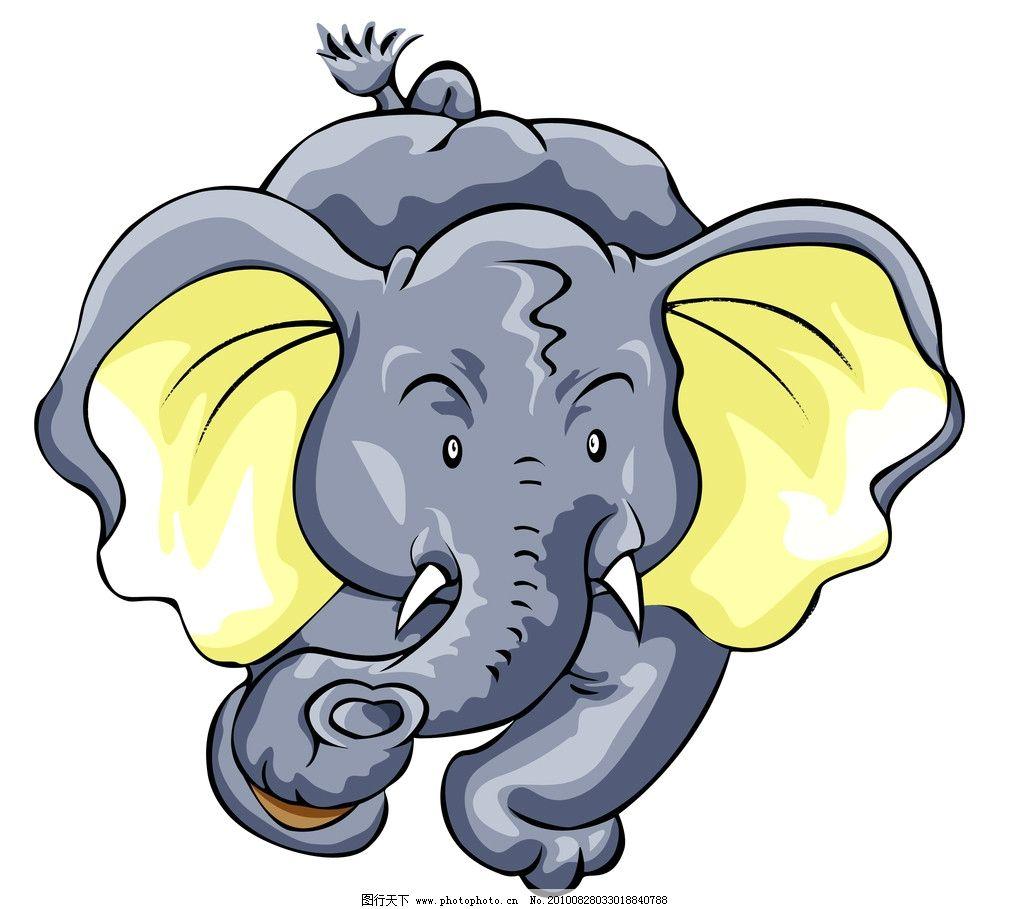 大象的漫画 大象 漫画 灰色 动物 重 可爱 大耳朵 其他 psd分层素材
