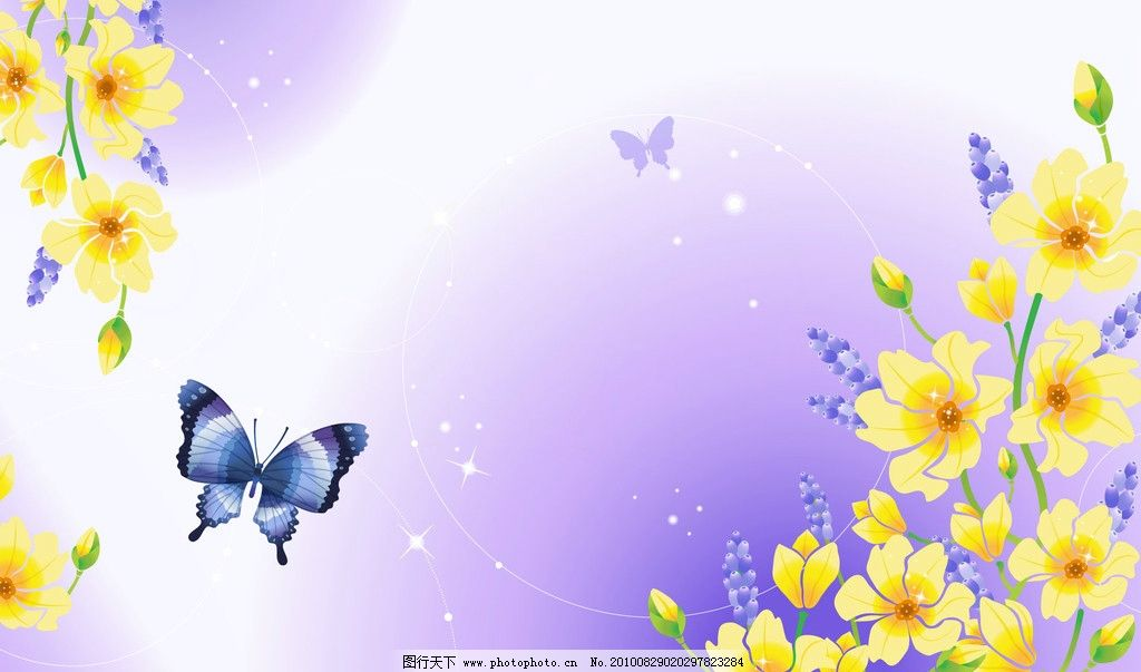 蝴蝶花背景 蝴蝶 背景 动物 可爱 背景底纹 底纹边框 设计 300dpi jpg