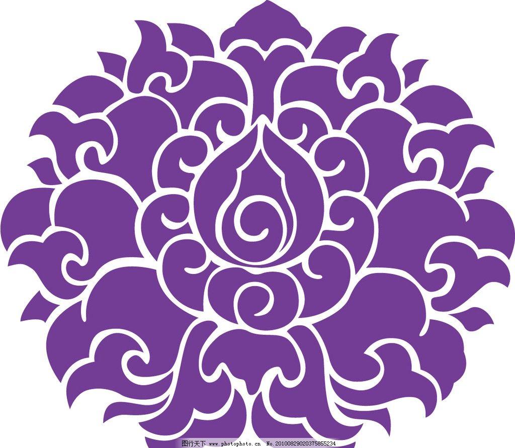中国古代吉祥花纹图案图片