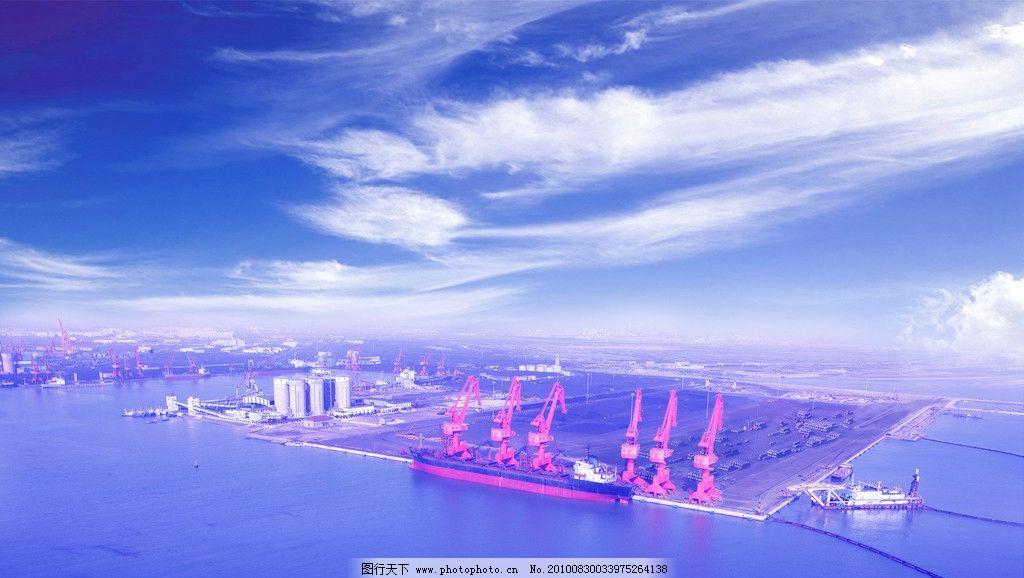 港口水粉风景写生